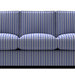 Sofa with Blue Striped Fabric