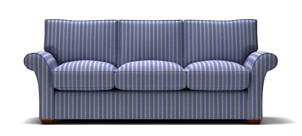 Sofa with Blue Striped Fabric | stl-illustrator.com