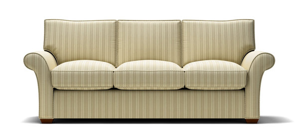 Illustration Of Sofa With Gold Stripes