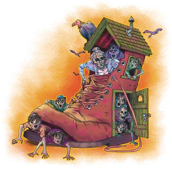 Old Woman In Shoe Stl Illustratorcom