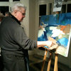 Bill at One of the Painting Stations at the 125th Anniversary Party