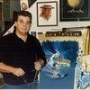 Bill Vann in his Soulard Studio in Earlier Days