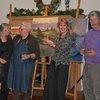 Bill Vann and friends painting at the St. Louis Artists' Guild December 3, 2011