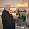 Bill Vann at the easel at the St. Louis Artists' Guild 125th Anniversary Party