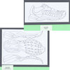 tennis, shoes, layout, 2D drawing, side-view, sole
