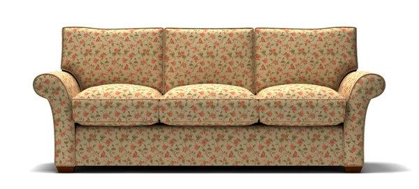 Sofa With Fl Pattern Fabric